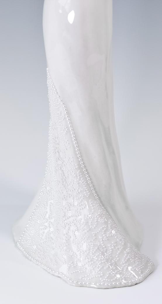 beaded mermaid dress stonewear ceramics wedding dress
